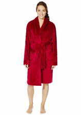 Ladies Piped Dressing Gown Towelling Shawl Collar Dressing Gown Bathrobe Size S