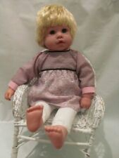 "18"" Blond Cloth and Vinyl  Kingstate Doll ""Growing Hair"" Emma"