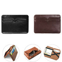 Men's Leather Magic Money Clip Slim Wallet ID Credit Card Holder Case Purse