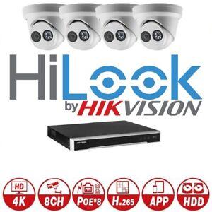 Hikvision 7600 NVR 4,6,8,10,12,16 IPC-T280H-MU HiLOOK 8MP Built-in Mic Kit