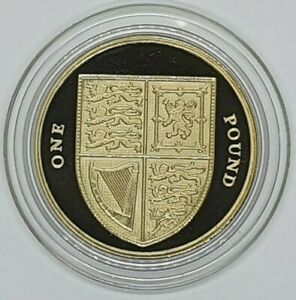 2016 Royal Shield Proof £1 Coin - One Pound