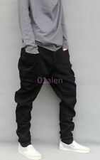 HOT Harem Mens Harem Pants Loose Relaxed Cargo Bootcuts Long Flare Cut Trousers