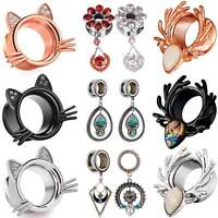 Kitten Ear Gauges Ear Plugs Flesh Tunnels Stainless steel Ear Stretching Jewelry