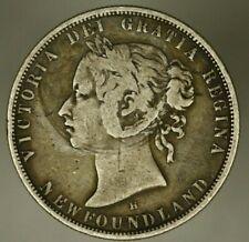 Newfoundland Silver 50 Cents 1876-H  Victoria  A1694