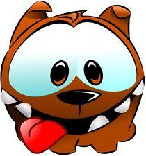 FUNNY DOG FACE BUMPER STICKER TOOLBOX STICKER LUNCH BOX HARD HAT STICKER