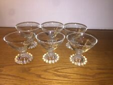 6 Candlewick Cordial Glasses
