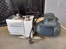 Leybold Heraeus D4A Dual Stage Rotary Vane Vacuum Pump
