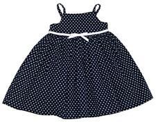Baby GAP Girls Dark Navy Polka Dot Bow Tank Dress Diaper Cover ~ Size 2T NWT kg