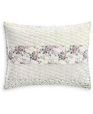 Martha Stewart Textured Floral Stripe Standard Sham White $70
