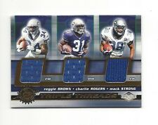 2001 IMPRESSIONS REGGIE BROWN CHARLIE ROGERS MACK STRONG GAME-USED JERSEYS #34
