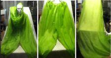 """85"""" Scarf Cover Sheer Green Rhinestone Persian Belly Dancing Harem Elastic Pants"""
