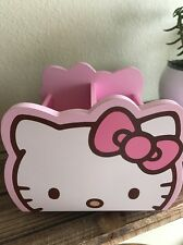 Hello Kitty Desk Organizer Pink Desktop Office Pen Pencil Holder Storage Rotates
