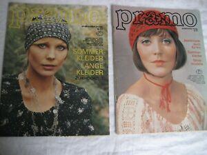 2 x alte DDR Mode-Zeitung PRAMO,mit Schnittmusterbögen,Vintage Mode,Nr,5-6.1977