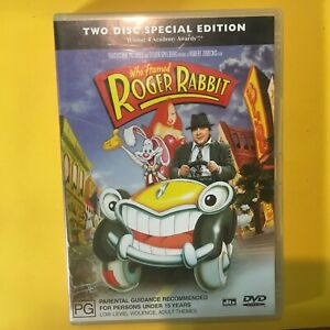 WHO FRAMED ROGER RABBIT - 2 DISC SPECIAL EDITION - DVD - R4 - VGC - FREE POST