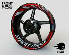 Wheel Stickers for Triumph Street Triple RS R S Rim Tape Motorcycle Decals