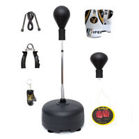 Boxing Free Standing Punch Bag Speed Ball Martial Arts Gloves Training Mma Set