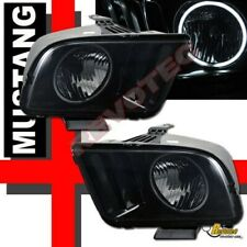 Black Smoke 05 06 07 08 09 Ford Mustang Gt G3 Super Bright Halo Headlights Fits Mustang