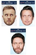 Take That Set of 3 2D Offiziell Karten Party Gesicht Maske Pack Barlow Owen