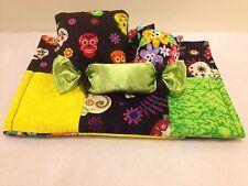 Skulls&Flowers Quilt Bedding Set For Barbie, Monster High, Or Bratz Dolls