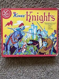 Vintage 1950's Lido Medieval Set Plastic Kings Knights in Box.