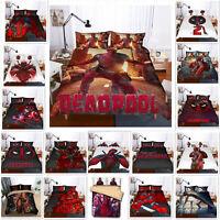 3D Deadpool Quilt/Duvet/Doona Cover Set Pillowcase Single/Double/King/Super King