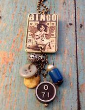 BINGO Boy Pendant Necklace Vintage Style HANDMADE Jewelry Gift