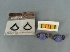 4pc Set of Military Pins Collection Lot Vintage