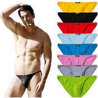 3er 6er Pack Herren Slips Unterwäsche Basic Retro Unterhosen Soft Mini Briefs
