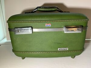 Vintage Green American Tourister Train Case/Vanity - No mirror or tray