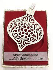 Swarovski® Crystal Keepsake Decoration Merry Christmas Special Couple Ornament