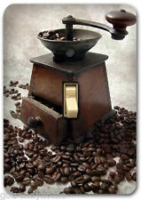 Antique Coffee Bean Machine Single Metal Switch Plate Cover Home Decor 189