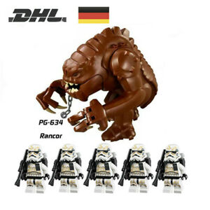 6Stk STAR WARS Set Stormtrooper Dewback Clone Trooper Armee Minifiguren Rancor