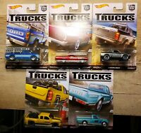 2016 Hot Wheels Car Culture Trucks Complete Set of 5 Straight From Factory Box B