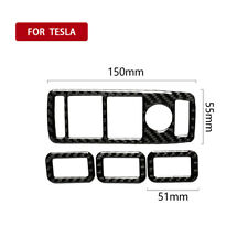 Fit Tesla Model S/X 2014-2019 Carbon Fiber Inner Rear Air Vent Outlet Panel Trim