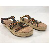 Circus Sam Edelman Women's Brown / Multi-Color Size 8 Strap Flat Sandal
