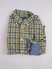 POLO RALPH LAUREN KIDS BOYS YELLOW BLUE PLAID SQUARE L/S DRESS SHIRT 4/4T EUC