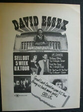 David Essex 1975 Ad- sell out 5 week Uk tour etc