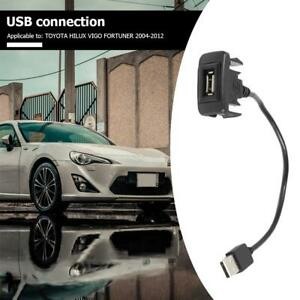 Car Dash Flush Mount USB Port Panel Extension Cable Adapter for Toyota