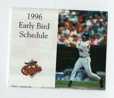 1996 Baltimore Orioles Pocket Scheduleearly Bird Sponsored By Giant Food
