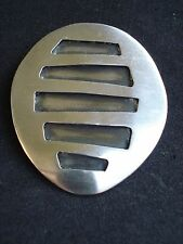 Signed Lydia Weber Sterling Silver Modernist Abstract Shadow Box Modern Brooch
