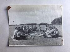 1948 B/W Photograph. Group of Girl Guides Having Breakfast. Women/ Female/ Girls