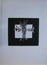 Paul René Gauguin (1911-1976) Stilisierter Adler Orig Holzschnitt signiert 1963