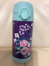 Pottery Barn Kids Mackenzie Insulated Water Bottle Plum Turquoise Floral Bouquet