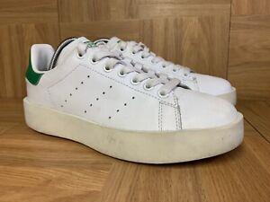 RARE🔥 Adidas Stan Smith Platform Bold Sneakers White Green Sz 7 Women's S32266