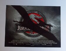 Jurassic Park 3 2001 Original UK Mini Quad Cinema Poster