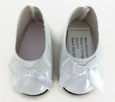 White Shiny Dress Shoes for 14.5 inch American Girl Wellie Wishers Wisher Dolls