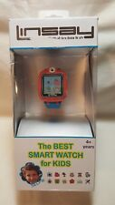 "LINSAY 1.5"" Kids Smart Watch S-5WCLBLUE With 90 Degree Selfie Camera, Blue"