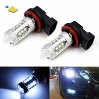 H11 Diamond White LED Fog Light Bulbs 6000K  FG XR6 XR8 G6E Fits H16 80W