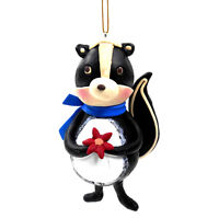 Black and White Clay Skunk Christmas Ornament by Midwest