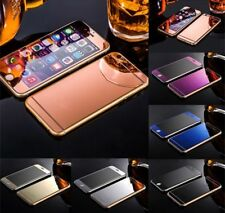 Front+Back Mirror Tempered Glass Screen Protector cover for iPhone 5 6S 7 & plus